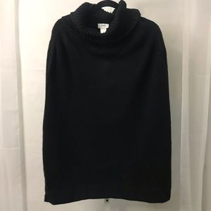 The limited poncho black cowl neck one size NWT